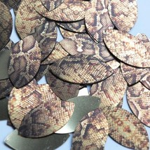 "Navette Leaf Sequin 1.5"" Gold Brown Snakeskin Reptile Pattern Metallic - $14.97"
