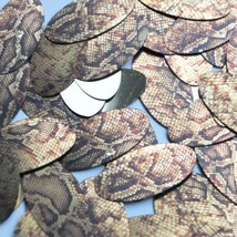 "Oval Sequin 1.5"" Gold Brown Snakeskin Reptile Pattern Metallic - $14.97"