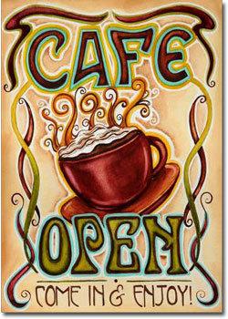 Cafe open art banner 10872