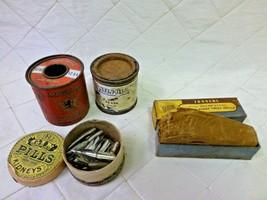 Advertising Tins Osborn Jobbers BDC Gin Pills Kidneys Satin-Glo Imperial Solder - $20.29