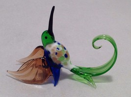 Hand blown glass Colorful Small Hummingbird - $39.60