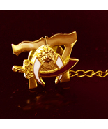 77 Masonic Crescent Moon Simitar Sword Star Vintage Tie tack Shriners Wh... - $50.00