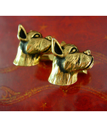 Vintage Swank BullDog cufflinks Dog Breeder Animal Lover boxer mens cool... - $125.00