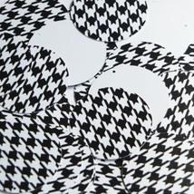 "Round Sequin 1.5"" Black White Houndstooth Pattern Opaque - $14.97"