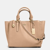 Coach Beechwood Leather Zip-Top Closure Crosby Carryall/Shoulder/Handbag - $555.99