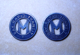 Two Buss Tokens, Monteray California, 1944, Bay Rapid Transit, Good for ... - $10.00