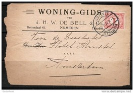 NETHERLANDS 1910 COMMERCIAL COVER TO AMSTERDAM (8/08/10) (OS-198) - $3.91