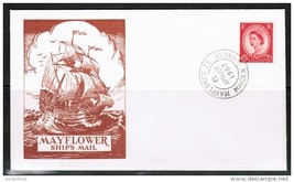 GREAT BRITAIN 1957 MAYFLOWER II MAIDEN VOYAGE COVER (APR-JUL/1957)  (OS... - $3.47