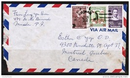 PHILIPPINES AIRMAIL COVER TO MONTREAL, CANADA (JUNE/12/1963) (OS-199) - $2.92