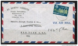 NETHERLANDS ANTILLEN 1958 AIRMAIL ADVERTISING COVER TO NY. USA (OS-203) - $7.87