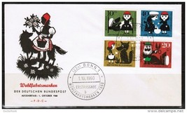 """GERMANY Scott B 372-5 """"LITTLE RED RIDING HOOD"""" on FDC (1/10/1960) (OS-206) - $4.70"""