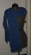 CEJON SCARF BLUE SILVER SPARKLY ONE SIZE MSRP:$36.00 NWT - £11.50 GBP