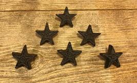 "12 Small Stars 1 3/4"" Cast Iron Rust Drawer Cabinet Pulls Handles 0170-1... - $22.10"