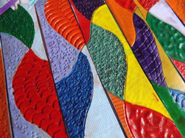 Leather Bookmark - Mosaic - $19.00
