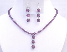 Amethyst Dress Jewelry Crystals Jewelry In Your Own Color Necklace Set - $41.98