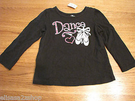 The Childrens Place baby girls 24M 24 months black DanceT shirt NWT ^^  - $7.20