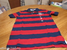 Boy's youth Tommy Hilfiger Polo shirt stripe S 8/10 NEW trim fit rooster... - $28.70