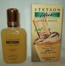 Vintage STETSON PLUS AFTER SHAVE Clear Low Alcohol Formula 1.5 OZ. Coty ... - $24.74