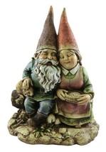 Sitting Gnome Couple Bench Garden Statue Outdoor Decor - €35,87 EUR