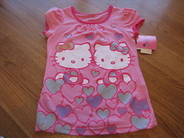 Girls Hello Kitty HK50279 Pink hearts t shirt 4 NWT*^ - $13.85