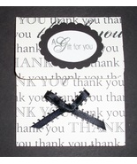 Thank You Gift Card Holder money holder birthday handmade Crazy Annie's ... - $2.50