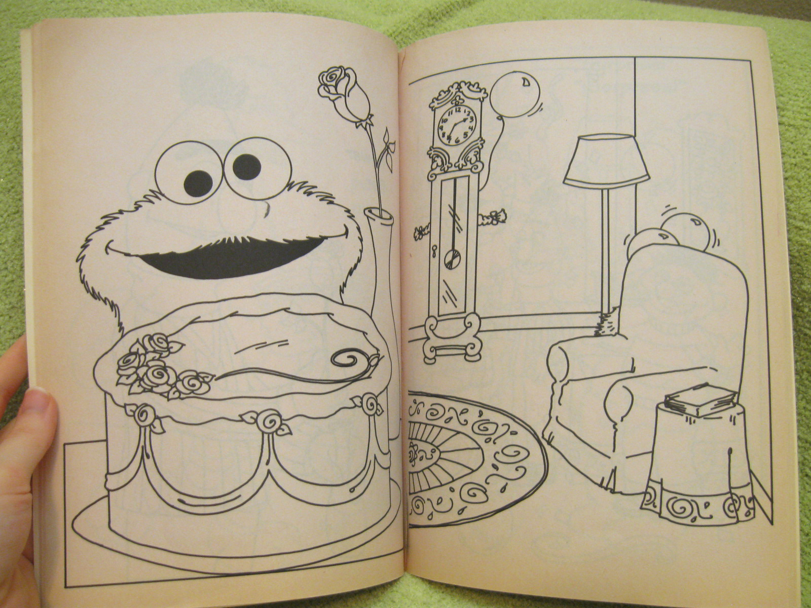 Whitman hot wheels coloring book - Sesame Street Vtg 1993 Coloring Book