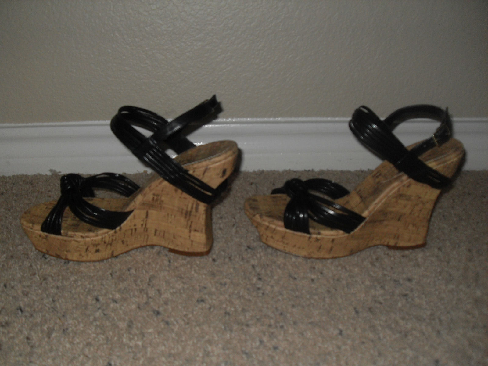 Primary image for Jessica Simpson New Sexy Black Strappy Wedge Heels Sandals Medium (B,M) 10B/40