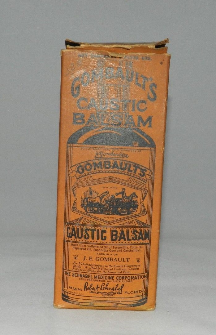 Vintage Antique Gombaults Caustic Balsam For and 20 similar