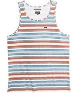 RVCA HAIRY Boys Youth 100% Cotton Tank Top Medium Auburn Stripe NEW - $27.00