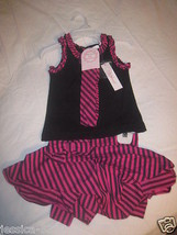Lilly Wicket Girls 3 Pc Summer Outfit Black  Pink New 12 months - $13.57