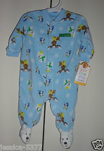 Just One You By CARTER'S INFANT BOYS SIZE 3 Months Sleeper Pajamas Chris... - $12.60