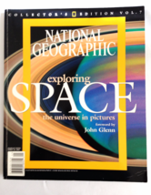 National Geographic Exploring Space The Universe in Pictures 2001 John Glen - $9.49