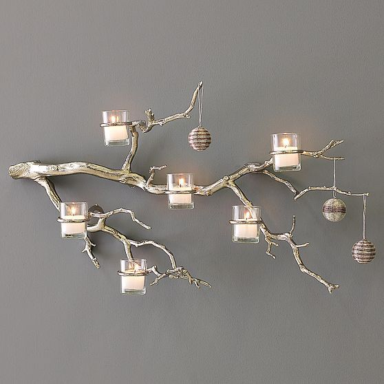 Rustic Tree Branch Candle Holder Wall Candle Holder Manzanita Tree Candle Holder