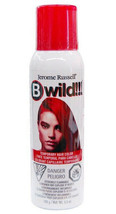 New Jerome Russell B Wild Temporary Hair Color Spray 3.5 OZ Cougar Red