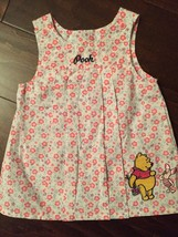 Winnie the Pooh Floral Print Spring  Baby Dress Size 3-6 mo Disney Infan... - $5.99