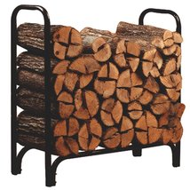 NEW Log Holder Outdoor Fireplace Rack Bin BLACK... - $85.00