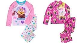 Minions Girls License Button Front Pajama or Fleece  2 Piece Sleep Set 6X - $11.89