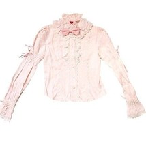 Baby The Stars Shine Bright High Neck Ribbon Blouse in Pink BTSSB Lolita Fashion - $69.00