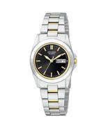 Citizen EQ0564-59E Women's Day Date Black Dial TT Bracelet Watch NEW IN ... - $89.08