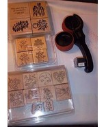 1996 & 2000 STAMPIN UP LOT (18) Stamps + Around Wheel w/ Ink MOST APPEAR... - $39.55