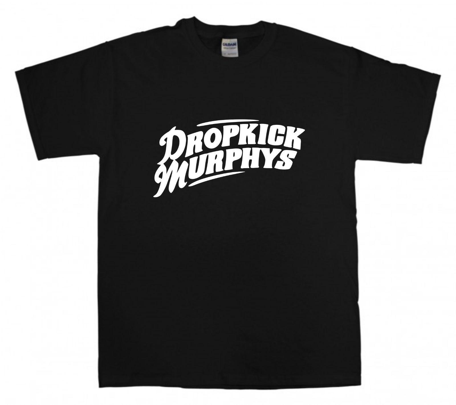 DROPKICK MURPHYS Logo T-shirt Celtic Punk Rock New Black ...