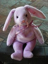 Beanie Babies Baby Ty Floppity the Bunny Rabbit Purple Lavender 1996 Retired - $4.90