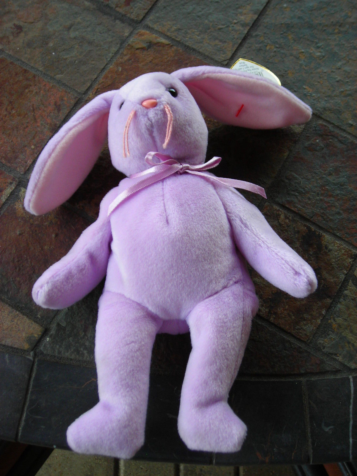 Beanie Babies Baby Ty Floppity the Bunny Rabbit Purple Lavender 1996 Retired
