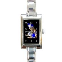 Ladies Rectangular Italian Charm Watch Zeta Phi... - $11.99