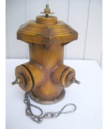 Handmade Vintage Helmet Top Fire Hydrant Firefighter Gift - $49.95