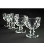 Heisey Puritan Sherbet Cups 4 pc Set, Antique 341 Colonial Rare Round Ri... - $29.40