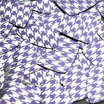 "Fishscale Fin Sequin 1.5"" Purple Silver Houndstooth Pattern Metallic - $14.97"