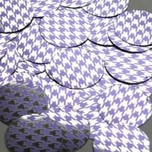 """Round Sequin 1.5"""" Purple Silver Houndstooth Pattern Metallic - $14.97"""
