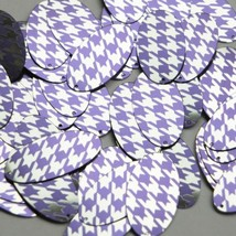 """Oval Sequin 1.5"""" Purple Silver Houndstooth Pattern Metallic - $14.97"""