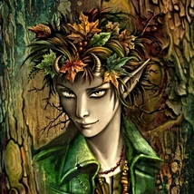 Theo Charming Young Dryad of Laughter Wine Music & Bounty! Haunted Spiri... - $30.00